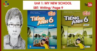 [Global sucess] SBT Tiếng Anh 6 - Unit 1: Writing/ Page 9 | Học Tiếng Anh